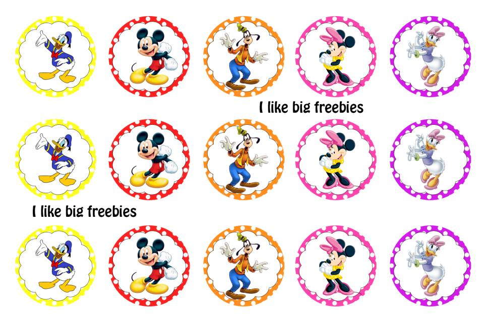Freebies free minnie mouse mickey mouse bottle cap images