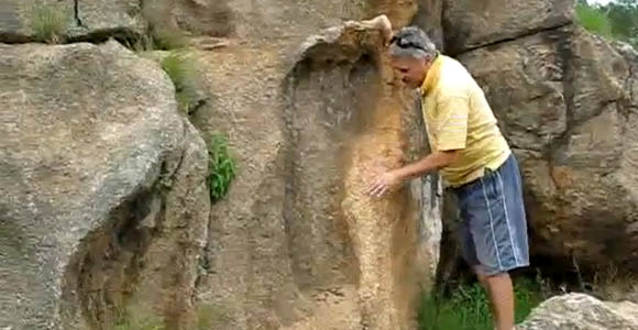 Impresión de un pie gigante de 200 millones de años