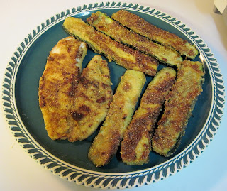 fried fish & fried zucchini