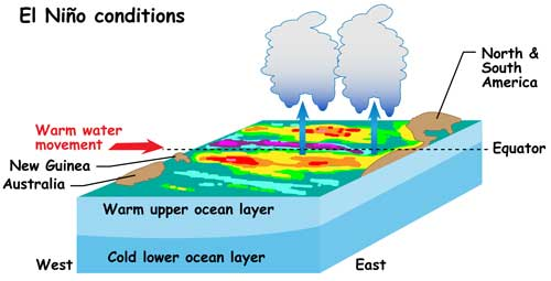 el nino phenomenon How el nino works el niño is a climate phenomenon that occurs when a vast pool of water in the western tropical pacific ocean becomes abnormally warm.