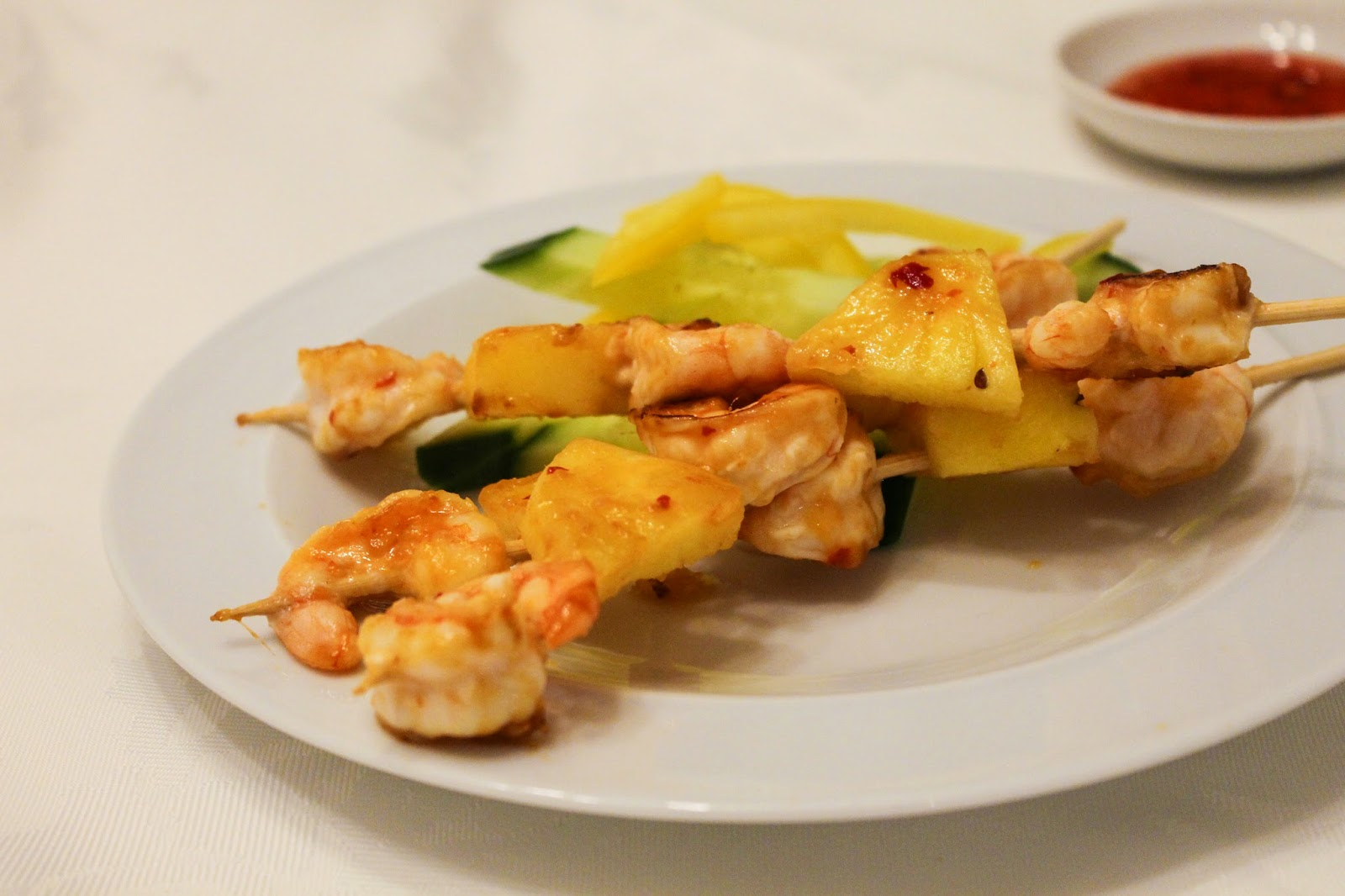 Prawn and Pineapple Skewers