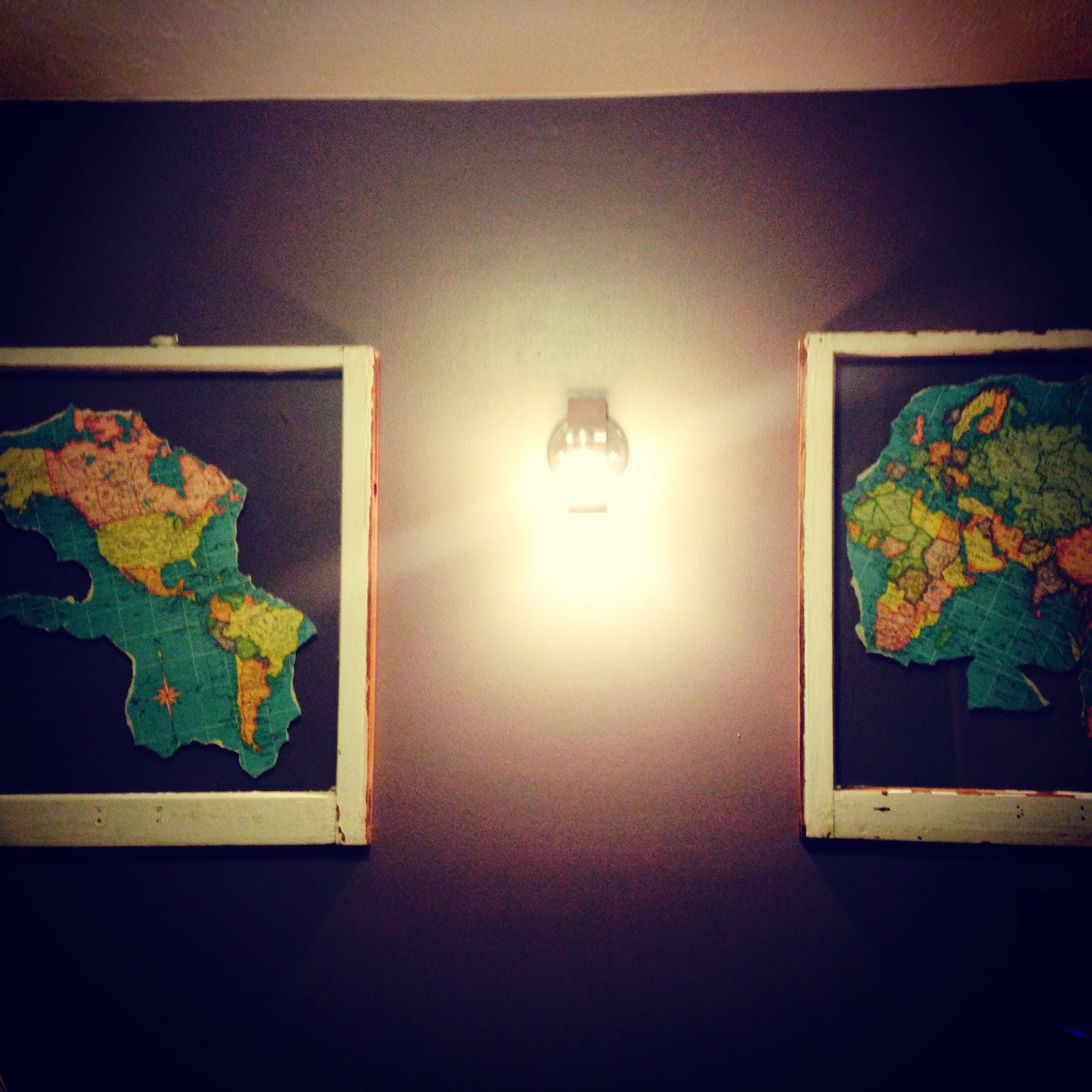 twigs & teas: DIY: Old Window Maps