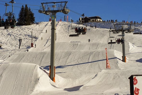 The Portes du Soleid on the Swiss/Frence border - Top 10 Snow Parks in The World