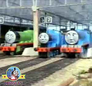 Train Henry and Gordon the big express engine Thomas and friends Edward tank sometimes did odd-jobs