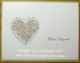 Wedding card made with silver glimmer paper and Teeny Tiny Wishes. Could also be Anniversary or Valentine card.