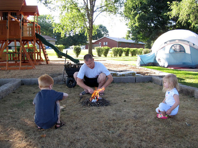Daddy Roasting Marshmallows