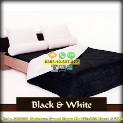 Harga Bedcover Grand Shyra Uk 120×200 Black & White Jual