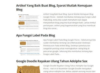 Tulisan Artikel Blog Yang Tidak Dikehendaki Google