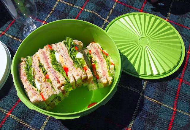 Mum's picnic sandwiches