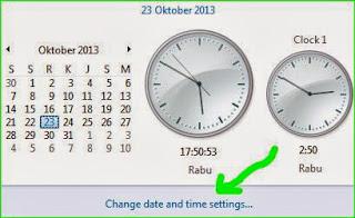 mengatur jam dan tanggal di laptop