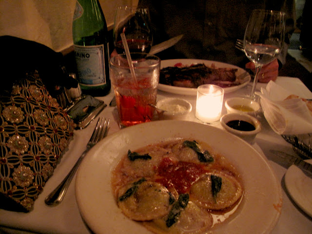 dinner at ca'dario's restaurant - santa barbara, california