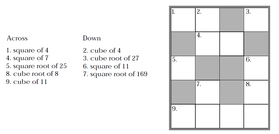 Cube roots worksheet doc
