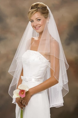 white lace wedding-veils