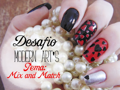 Desafio Modern Art-s: Mix And Match - Nail Stamp 99011 + Esmaltes D.R.L
