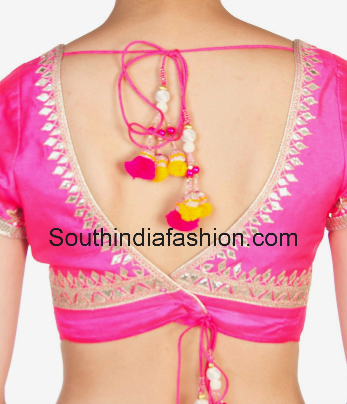 Stylish blouse back neck designs