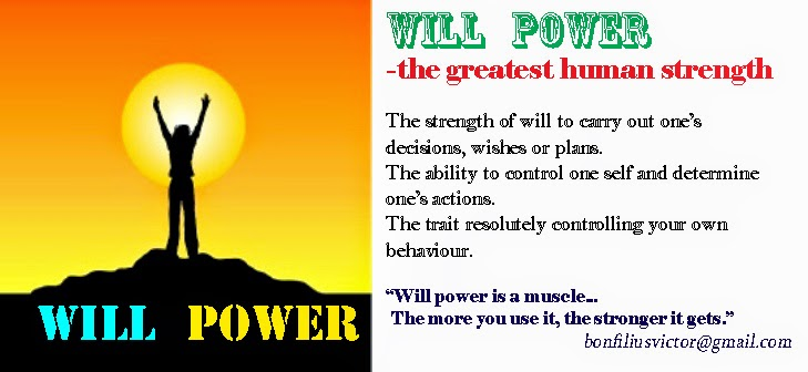 ... Persistence And The Power To Push Oneself Towards Goals And  Achievements. The Better Definition Of Will Power Is U201cthe Power Of  Self Direction.u201d
