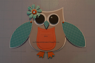 Owl Birthday Card using the Artiste Cricut cartridge