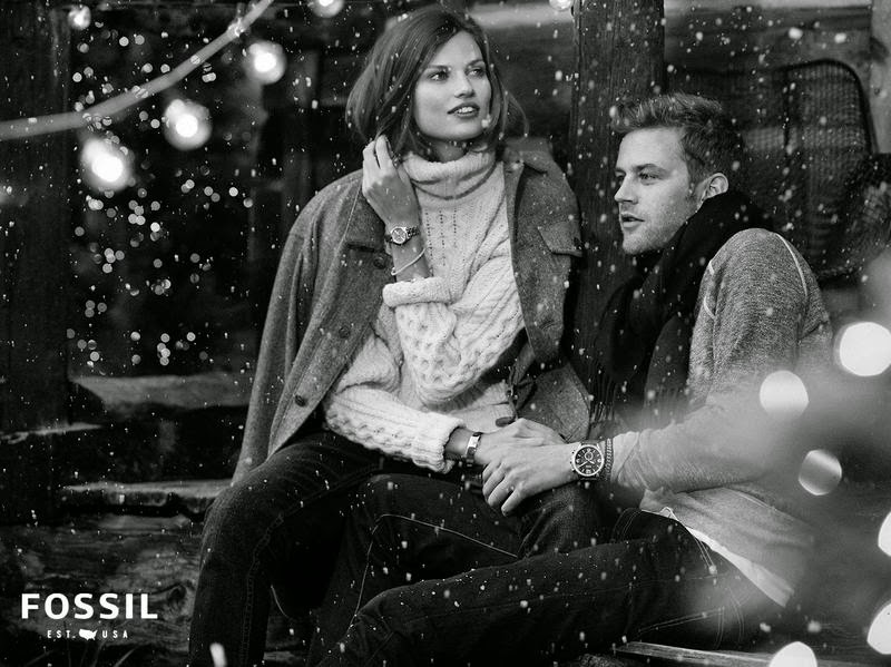 Fossil Holiday 2014 Campaign featuring Bette Franke and Jamie Strachan