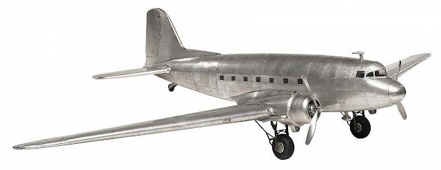 Douglas Dakota DC 3 Aluminum Airplane Model
