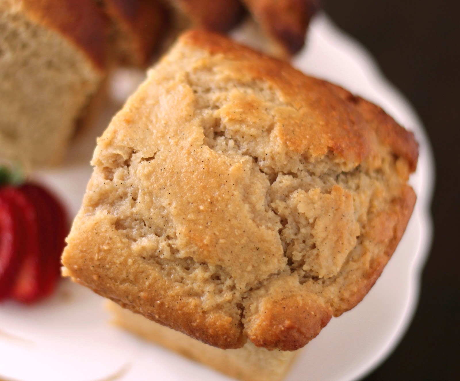 Healthy Vanilla Bean Pound Cake - Desserts with Benefits