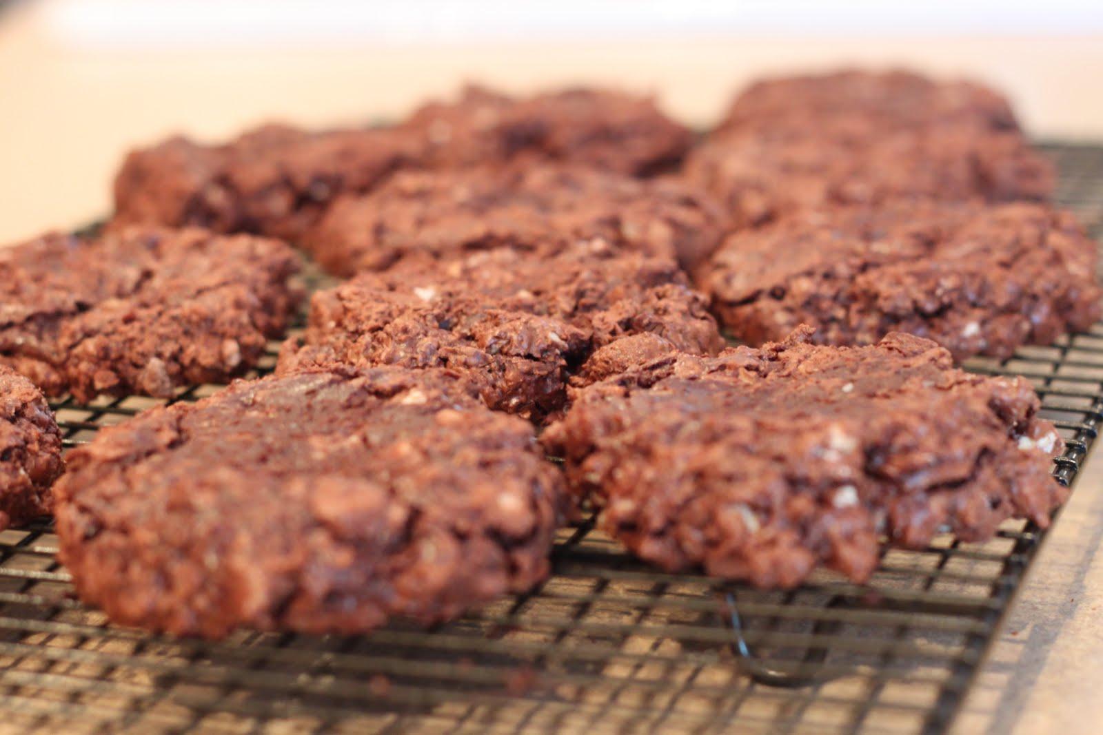 ... full of rosey: gluten free flourless double chocolate pecan cookies