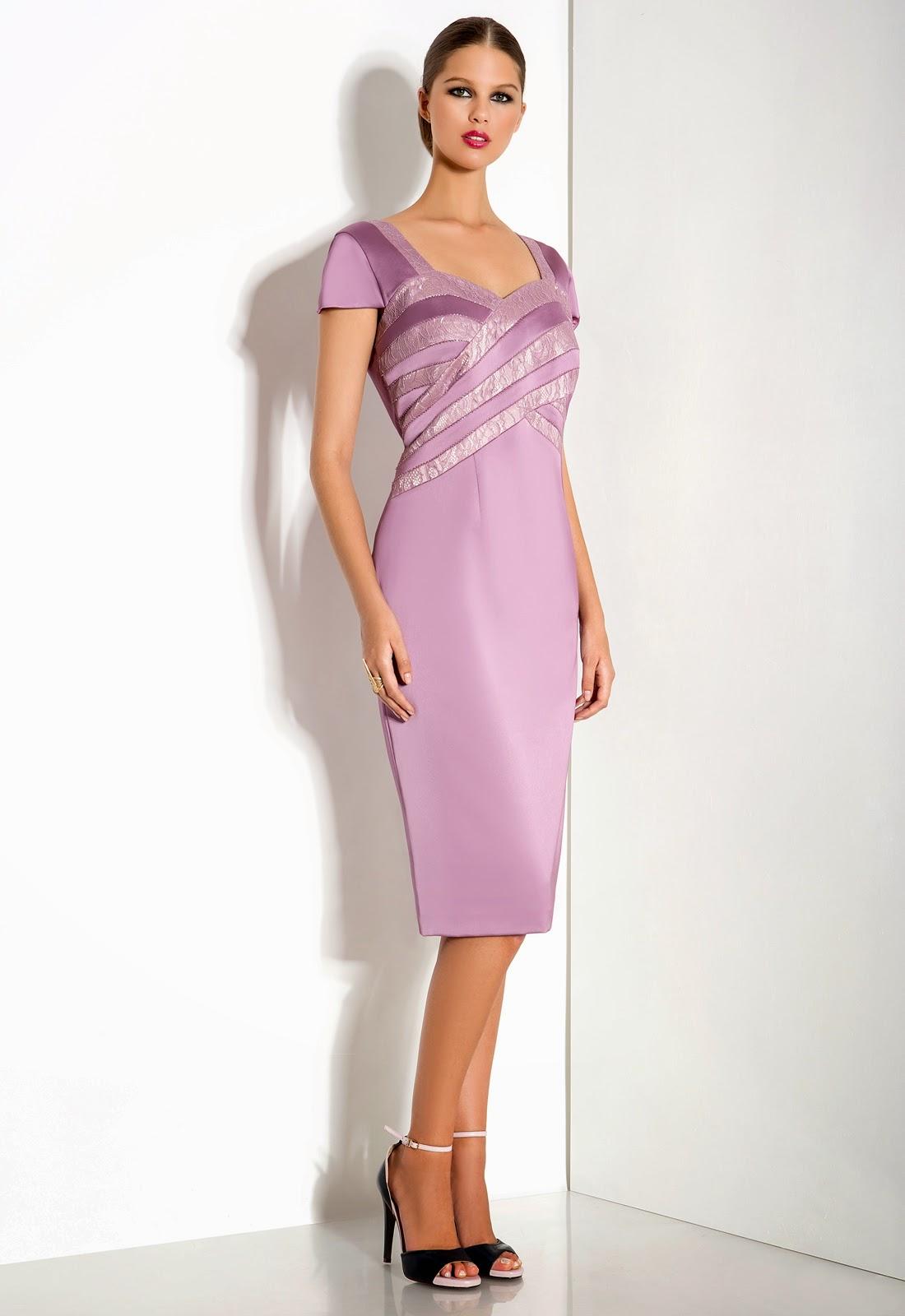 Brautmutter, Bräutigammutter Etuikleid, elegantes Kleid mit Ärmel