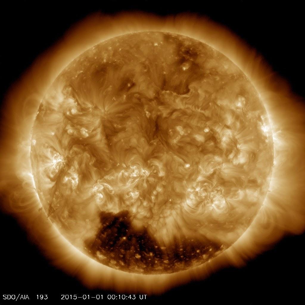 Изображение Солнца в первый день 2015 года