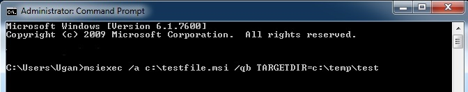 how to open msi files on windows 7