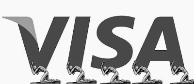 Anti logo de Visa portesta por Catar