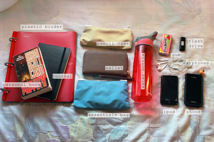 WOOORACHEL: TAGS: What's In My Bag/Backpack? School Edition