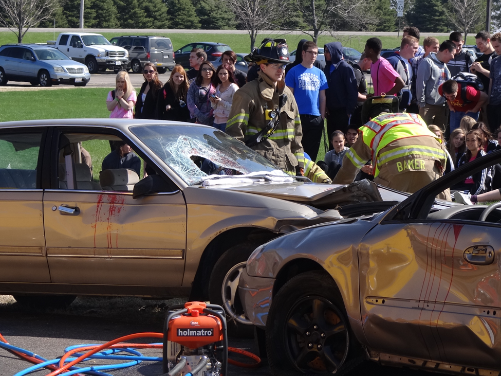 Car Crash Reenactment at CHS Stresses Good Decision-Making | Central ...