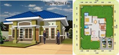 Desain Rumah Minimalis 1 Lantai Type 90