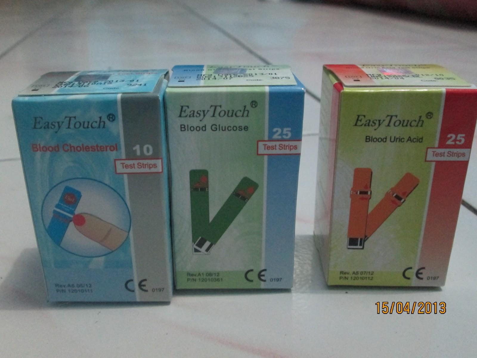 Farhan Medika Strip Easy Touch Gula Glucose Darah Isi 25 Rp 60000 Asam Urat Kolestrol 10 130000