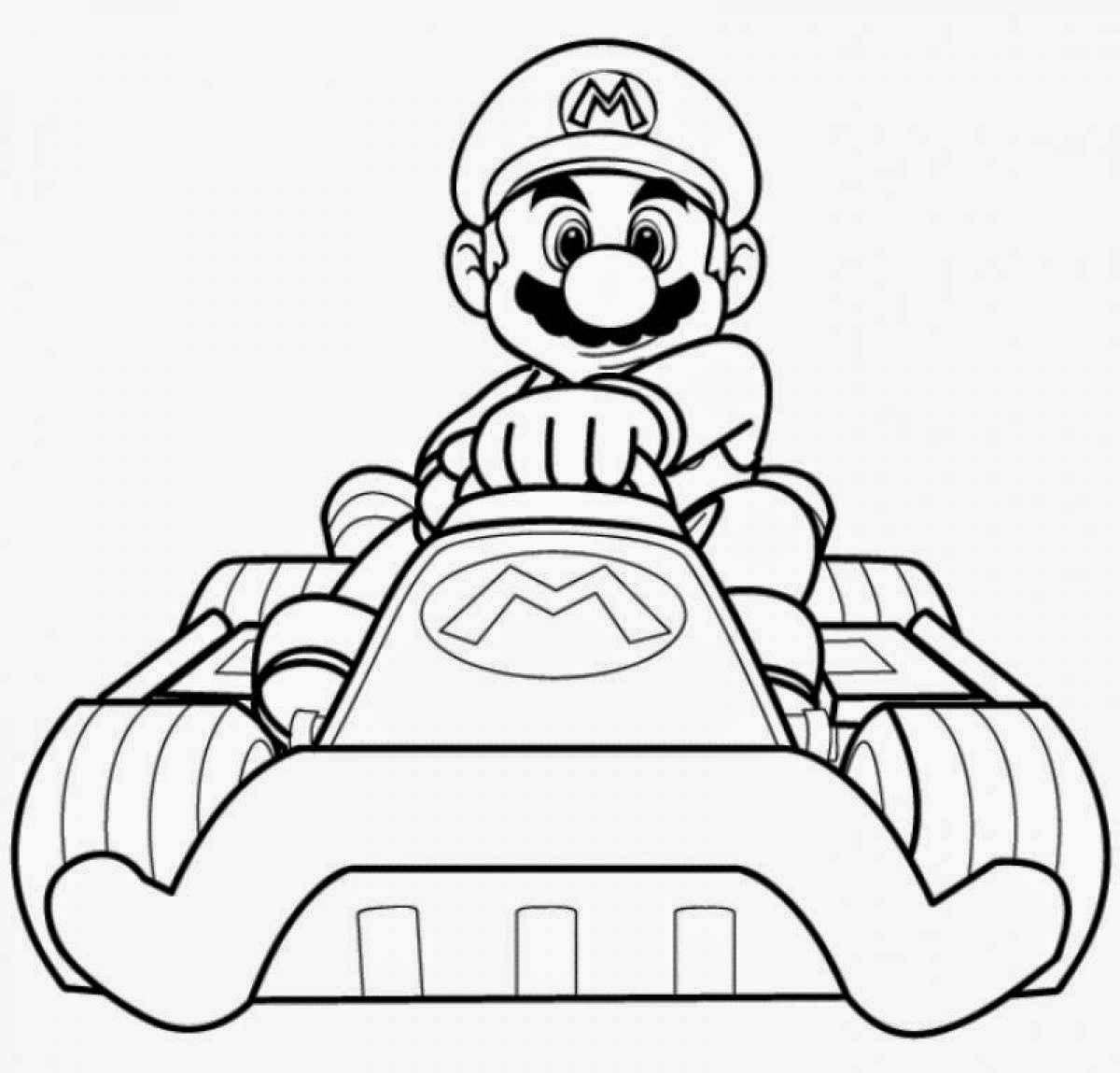 Mario Kart Coloring Pages Free Printable Mario Kart Coloring Pages For Kids