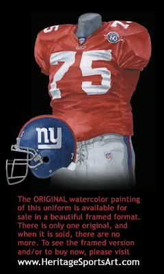 New York Giants 2004 uniform