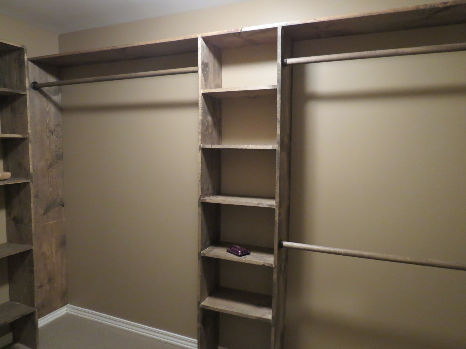 Let 39 s just build a house walk in closets no more living for How to make wardrobe closet