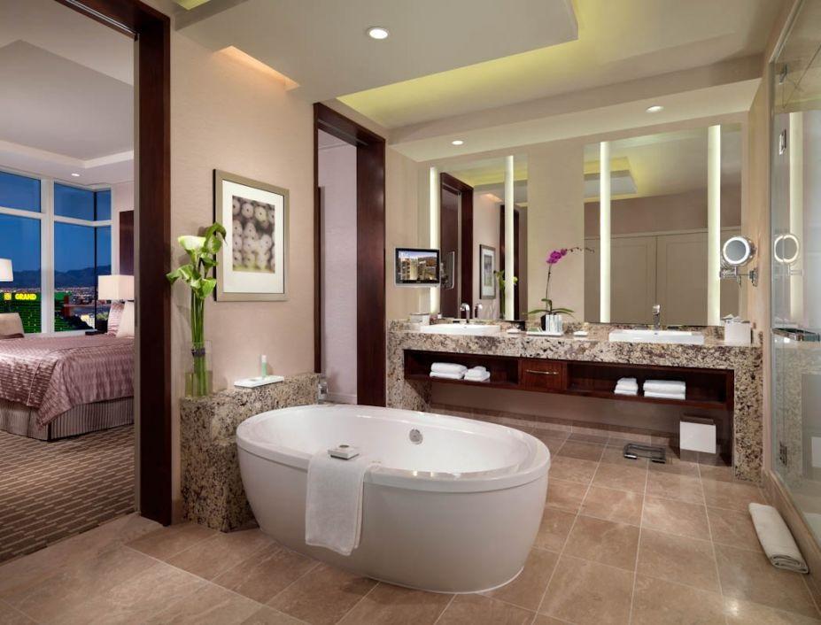 Decoracion Baño Con Tina:Decoracion de baño moderno con tina de hidromasaje central