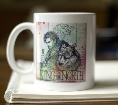 "King in the North ""Game of Thrones"" mug by sketch123"