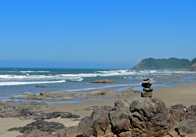 Rock Cairn on the Oregon Coast