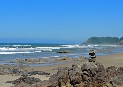 Rock Cairn on the Oregon Coast