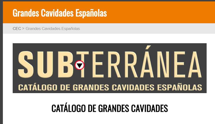 Catálogo de Grandes Cavidades Españolas