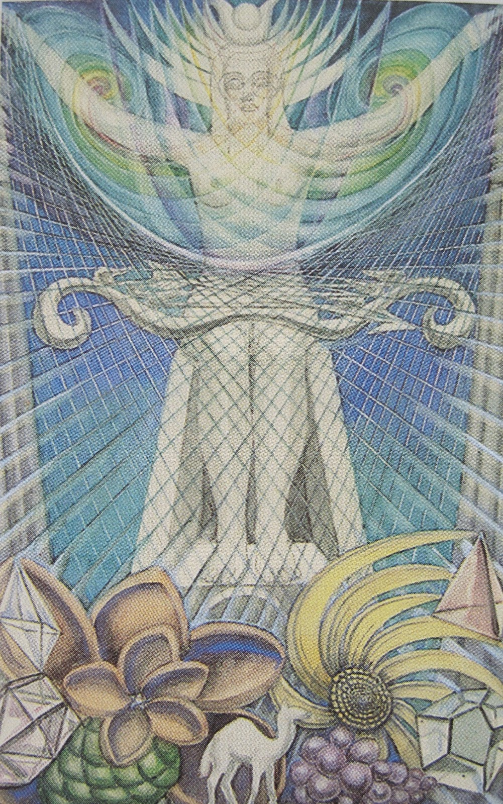 image of High Priestess card from Crowley/Harris Thoth Tarot deck