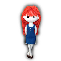 Amber Felt Doll Kit