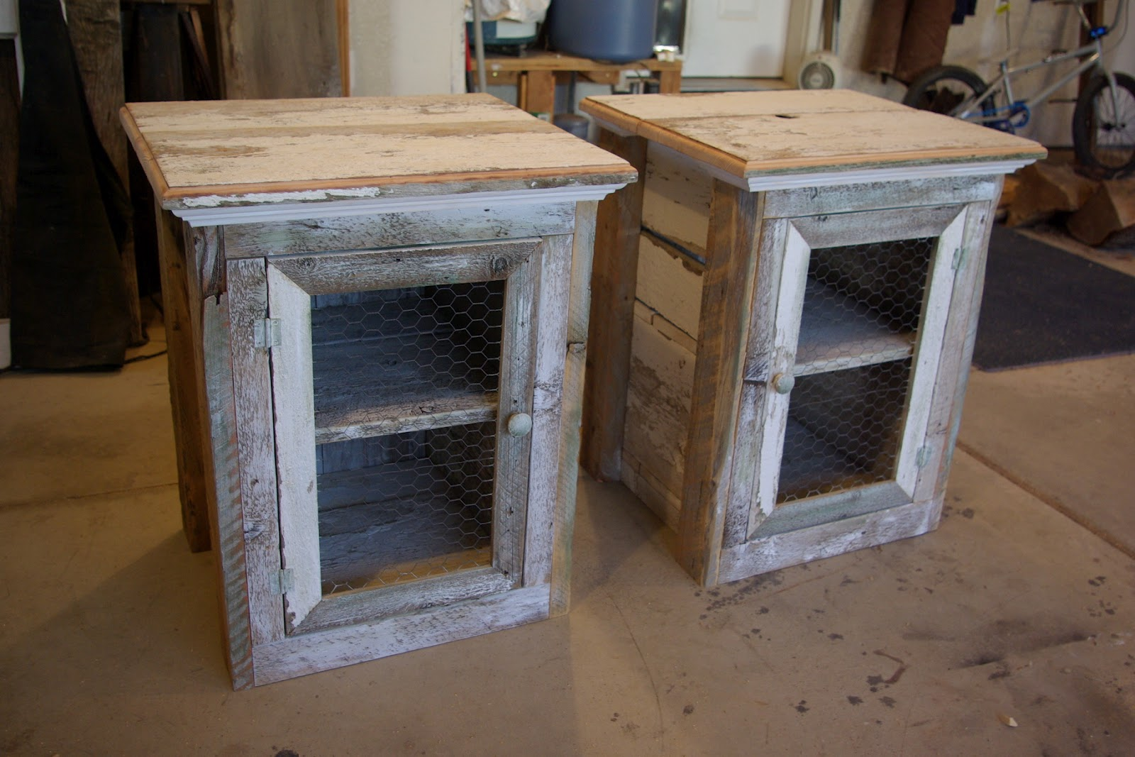 Reclaimed rustics rustic nightstands for How to make a nightstand higher