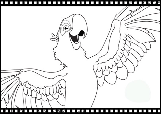 Rio Bird The Movie Coloring Pages Picture Idea To Kids