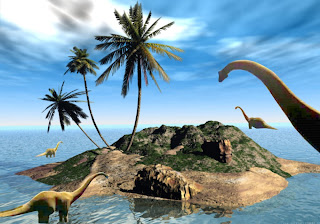 Dinosaurs Free Wallpapers Brachiosaurus Family in 3D Island background