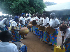 Perfoming during IWD celebrations in Agago District