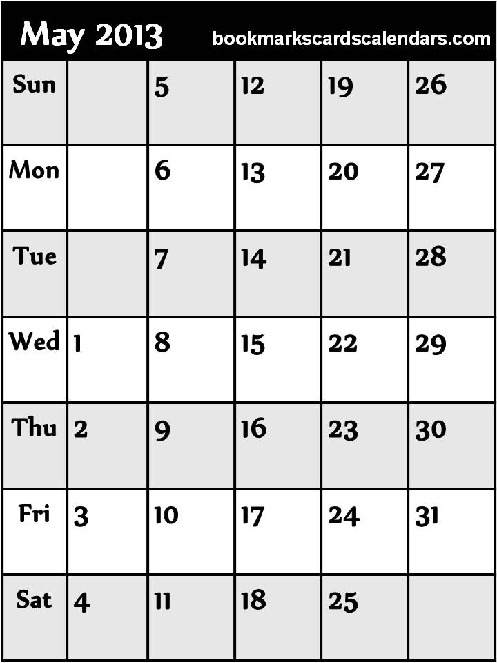 Calendar May 2013 : Empty calendar may search results
