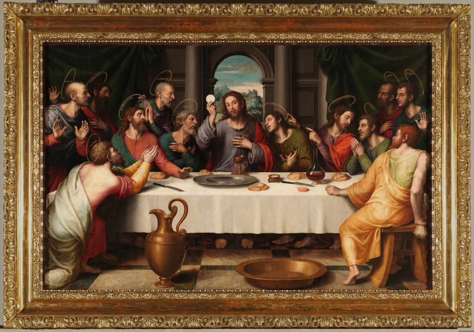 Imagen con la Última Cena de Jesús y sus discípulos