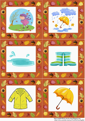 fall autumn flashcards, weather